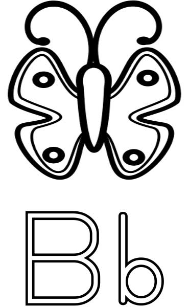 b for butterfly coloring pages - photo#21