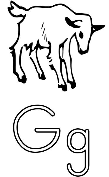 g for goat coloring pages - photo #21