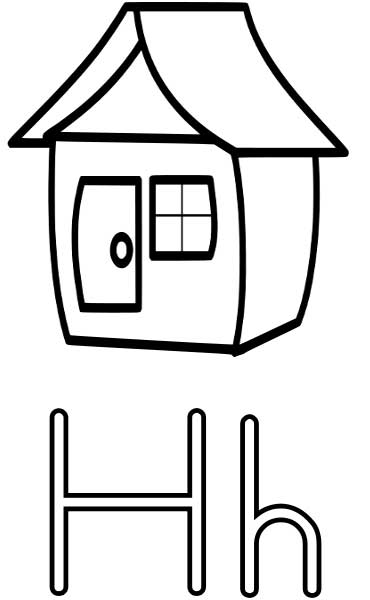h coloring pages for kids - photo #11