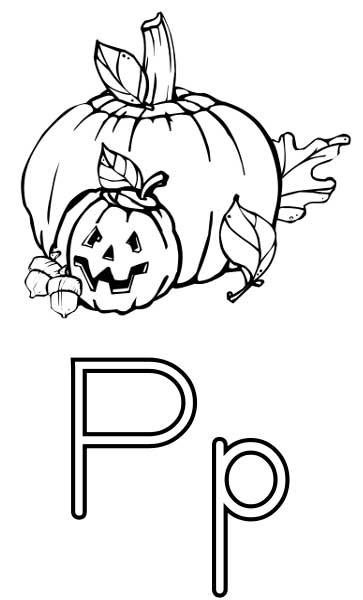 Pumpkin Coloring Page - Printable Worksheets for Kids