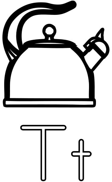 Tea Kettle Coloring Page