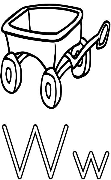Wagon Coloring Page - Printable Worksheets for Kids