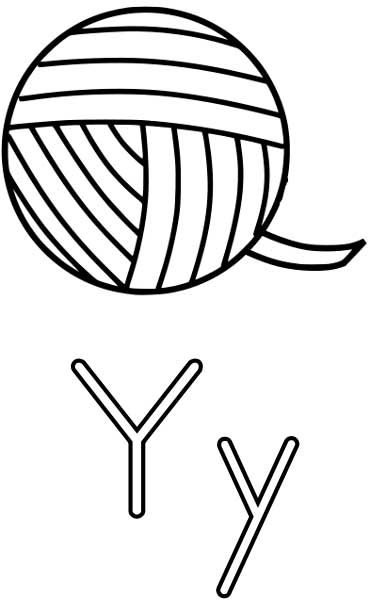 Yarn Coloring Page
